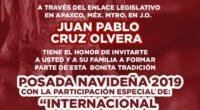 Juan Pablo Cruz Olvera, enlace legislativo federal en el municipio de Apaxco, realizó una convocatoria social en el municipio de Apaxco, en donde se celebró las fiestas decembrinas y en […]