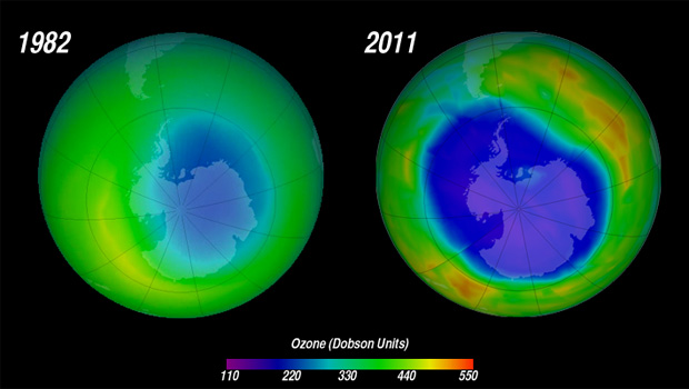 the impact of cfcs in the deterioration of the ozone layer The ozone layer in the stratosphere is thin but powerful however, because it occurs in such a low concentration, it's vulnerable to ozone-depleting chemicals, such as cfcs.