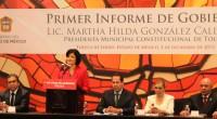"""Toluca, Méx.- """"Gobernar Toluca es reto, desafío, oportunidad y compromiso"""", dijo la presidenta municipal de esta localidad, Martha Hilda González Calderón, al rendir su primer informe de gobierno. En sesión […]"""