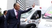 José Reyes Baeza, Director General delISSSTE, dio banderazo de salida al nuevo parque vehicular de ambulancias equipadas, que se distribuirán a unidades hospitalarias de todo el país, 404 de traslado […]