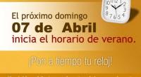 Este domingo 7 de Abril se da el cambio al Horario de Verano 2013 en prácticamente todo el país, por lo que se deberá adelantar una hora los relojes, de […]