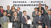 """Al presentar la iniciativa de reforma en materia de telecomunicaciones, el titular del Ejecutivo Federal dijo: """"Hoy, en un acto inédito, el Presidente de la República y los coordinadores de […]"""